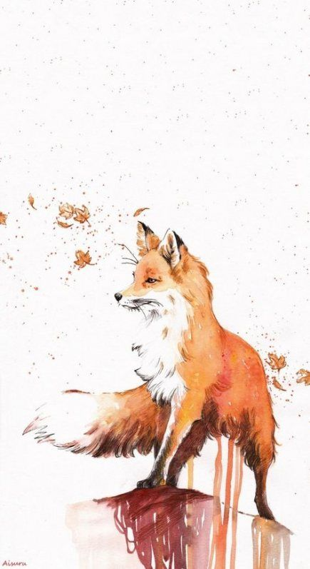 30+ Ideas Wall Paper Iphone Autumn Fox