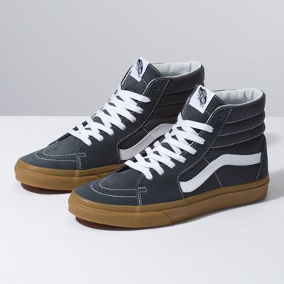 Leather Check Sk8 Hi | Shop Classic Shoes | Mens vans shoes