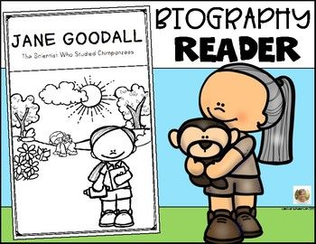 Jane Goodall Science Biography Kindergarten First Grade Women S