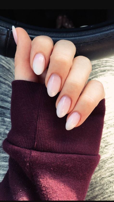 Ombre French Manicure Coffin Short 27 Ideas Acrylic Nails Coffin Short Almond Nails Designs Trendy Nails