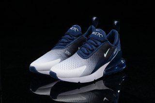Nike Air Max 270 Flyknit Spectrum Navy Blue White Men S Casual Shoes Nike Shoes Air Max Mens Nike Shoes Nike Shoes Women