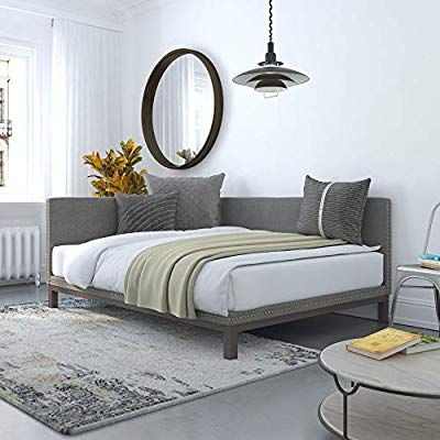 Amazon Com Dhp Dale Upholstered Daybed Sofa Bed Frame Full Size