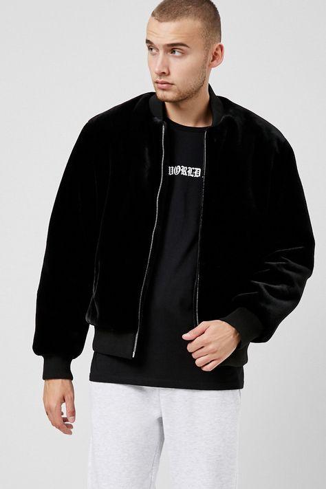 Zippered Bomber Jacket | Forever 21
