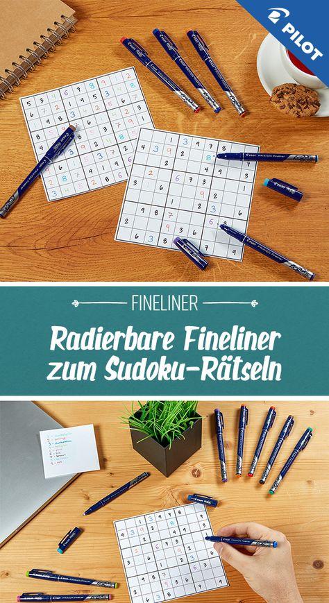 Sudoku Ratsel Mit Pilot Frixion Finelinern Bullet Journaling Fineliner Pilot Pen
