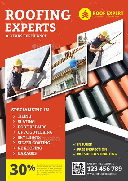 Roofing Flyer Flyer Template Roofing Flyer