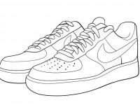 Easy Coloring Pages For Converse Shoes To Printable Coloring Shoes To Print Free Sneakers Drawing Sneakers Illustration Shoes Drawing