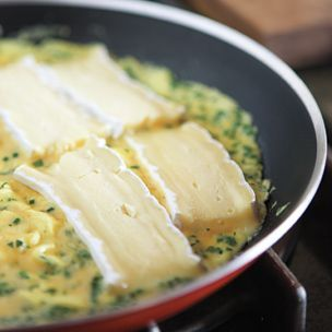 Herb and Brie Omelet.  Brie is pretty rich, so don't over do it...