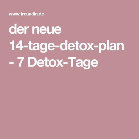 der neue 14-tage-detox-plan - 7 Detox-Tage
