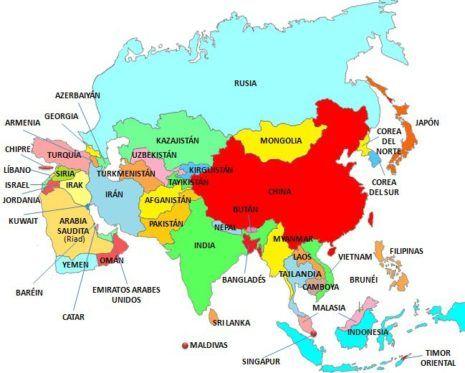 Mapa De Asia Fisico.Informacion E Imagenes Con Mapas De Asia Politico Fisico Y