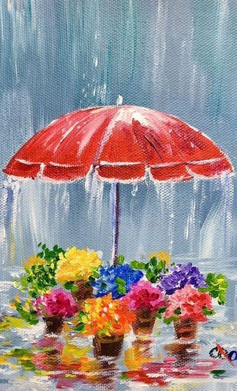 80 Easy Acrylic Canvas Painting Ideas For Beginners Simple Acrylic Paintings Watercolor Paintings For Beginners Acrylic Painting For Beginners