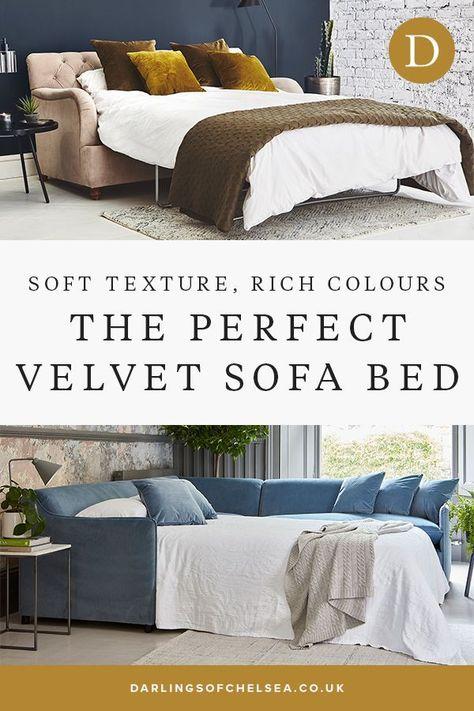 Velvet Sofa Beds Offer A Luxurious