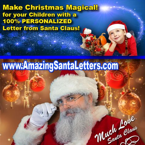Make Christmas magical for your Children or any Loved ones with a PERSONALIZED LETTER from Santa Claus!