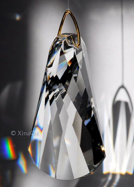 2.5 inches Austrian Crystal  Prism Moon with Stars 63 mm