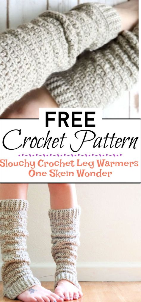 These 16 Free Crochet Leg Warmers Patterns will open new dimensions to your winter fashion. The legs are often to tremble first when you go in the cold Crochet Leg Warmers, Crochet Boot Cuffs, Baby Leg Warmers, Crochet Boots, Crochet Clothes, Crochet Headbands, Knit Headband, Baby Headbands, Crochet Sock Pattern Free