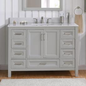 Scott Living Durham 48 In Light Gray Single Sink Bathroom Vanity