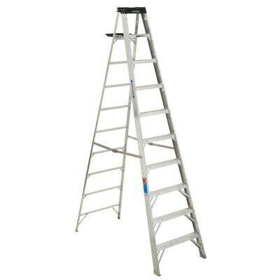 Ad Ebay Werner 310 10 Aluminum Step Ladder Grey In 2020 Step Ladders Ladder Rug Making