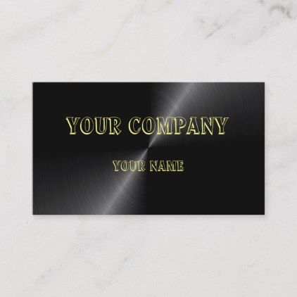 Custom Design Black Metallic Business Card Zazzle Com Custom Design Business Template Custom