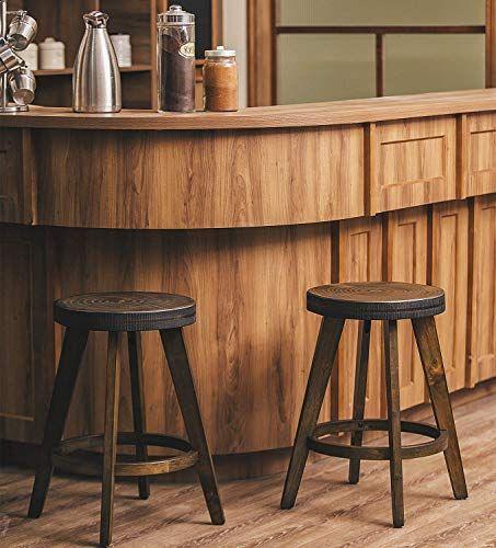 Amazing Offer On Furgle Set 2 Round Counter Stool Bar Stool 24