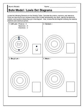 Academic Bohr Model Worksheet Answer Key Kimia