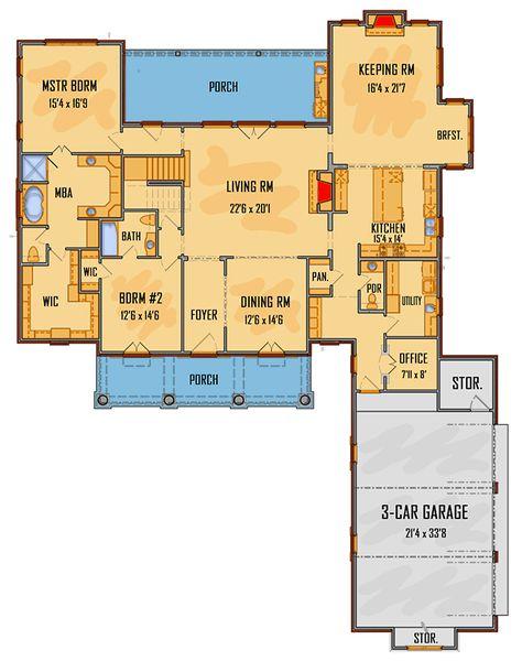 Gracious Southern House Plan - 510000WDY   Architectural Designs - House Plans