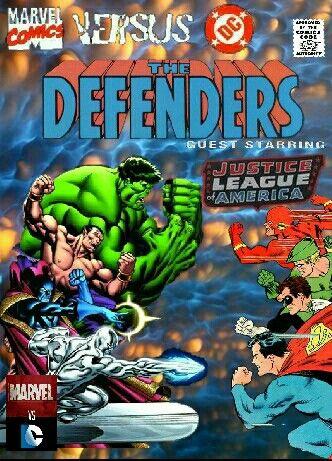 Defenders Vs The Justice League Marvel Comics Superheroes Marvel Vs Dc Superhero Comic