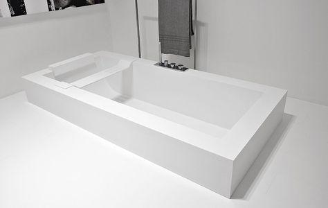 Vasche Da Bagno Da Incasso : Antonio lupi vasca biblio 80 vasca da bagno rettangolare da incasso