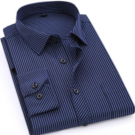 59bfabb6ddb Large Size Mens Business Casual Long Sleeved Shirt - buy Online – Gembonics