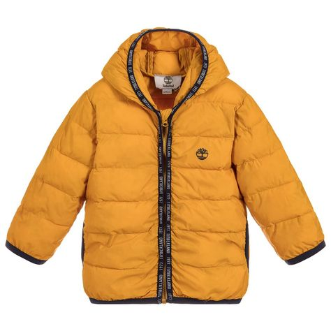 c56c61bb0 Boys Yellow Padded Jacket for Boy by Timberland. Discover the latest ...