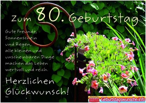 Geburtstagswunsche 85 Frau Inspirational Geburtstagswunsche Zum 80