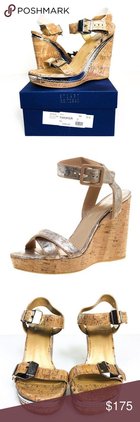 cfbd3045657b Stuart Weitzman Metallic Cork Wedge Sandal 7 Stuart Weitzman Metallic Cork  Wedge Sandal. Size 7