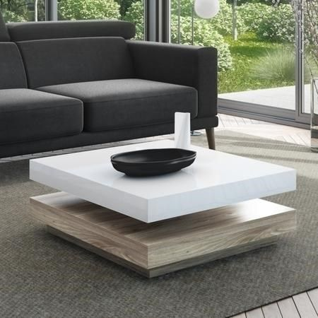 Buy Tiffany White High Gloss Coffee Table With Oak Effect Base From Furniture123 The Uk S Leading Online Cool Coffee Tables Coffee Table Coffee Table Square