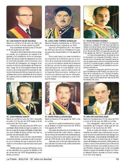 Presidentes De Bolivia 1825 2012 Primera Parte Con Imagenes