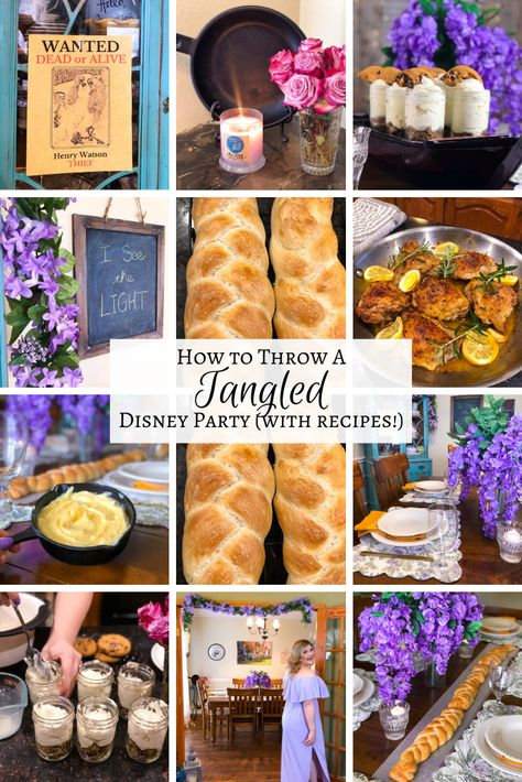 """"""" I know I said that Tangled was postponed but Rapunzel didn't let an eighteen year quarantine stop her from having some Disney magic so we're not going to e… Rapunzel Birthday Party, Tangled Party, Disney Tangled, Disney Princess Party, Disney Magic, Tangled Wedding, Princess Merida, Disney Themed Food, Disney Inspired Food"""