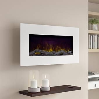 Clairevale Wall Mounted Electric Fireplace In 2020 Wall Mount