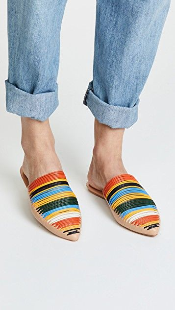b5e652809ee7c Sienna Flat Slides   Shoes   Flats, Tory burch, Shoes