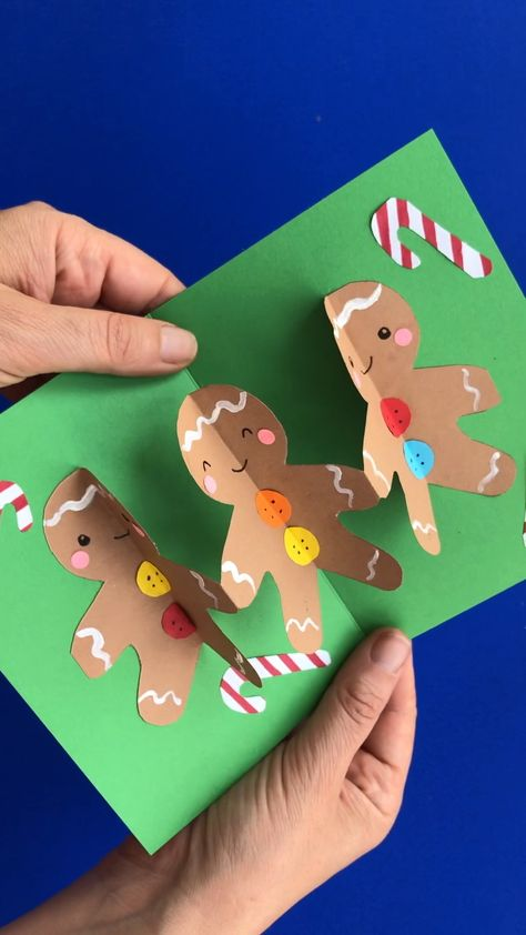 Pop Up Gingerbread Man Card for 3d Christmas Fun - Red Ted Art