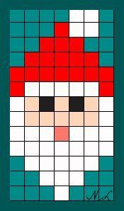 Père Noël Pixel Art Noel Modèles De Point De Croix Et