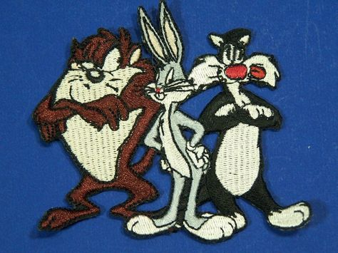 Looney Tunes Embroidered Iron On Patches Tasmanian Devil Patch NEW