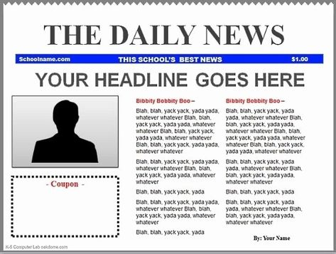 28 Newsletter Template Google Docs In 2020 Newspaper Template