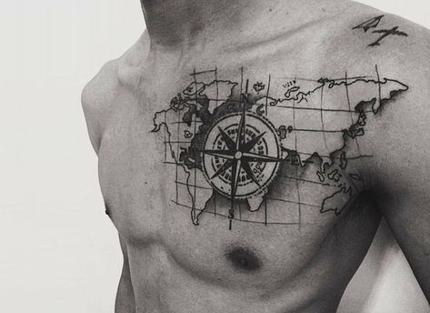 Compass - example 3: center of the tattoo - Finds - #center #Compass #Finds #tattoo