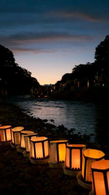 Pin By Setaswall On Phone Wallpapers Japanese Lanterns Lantern Lamp Lit Wallpaper