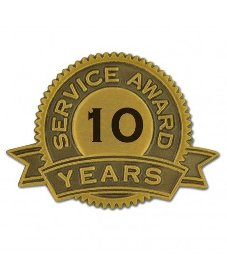 Pinmart S 10 Years Of Service Award Lapel Pin Jewelry Lapel Pins Service Awards Lapel