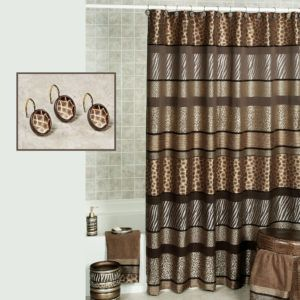 Cheetah Shower Curtain Hooks Animal Shower Curtain Printed