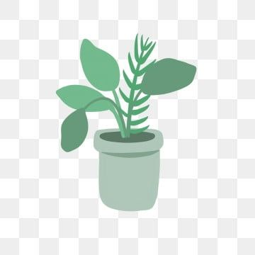 Hand Drawn Cute Green Pot Plants Garden Leaves Drawing Png Transparent Clipart Image And Psd File For Free Download In 2020 Plants Plant Background Leaf Drawing
