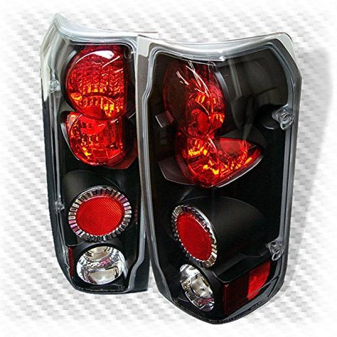1989 1996 Ford F150 F250 Bronco Black Tail Lights Rear Brake Lamps Pair Light Custom Trucks F150 Ford F150