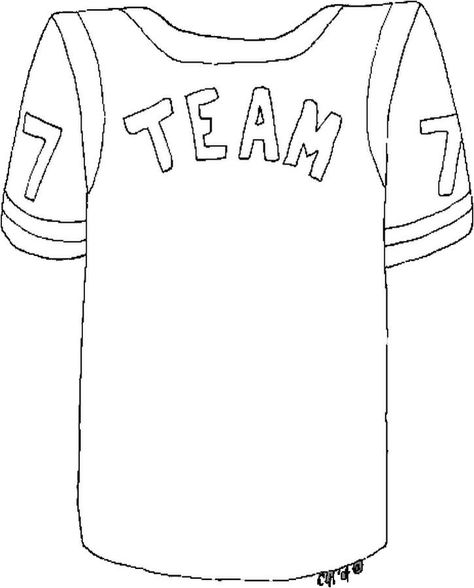 Spirit Week Uniform Coloring Page Nfl Football Jersey Football