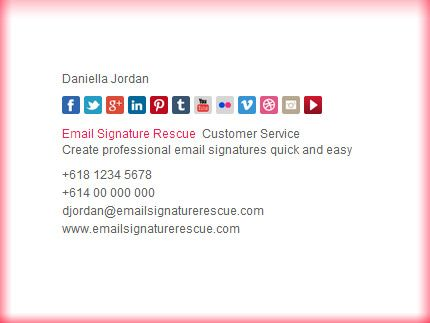 Email Signature Template - The Socialite (Minimal) - Make yours - sample email signature