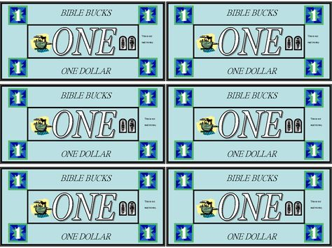 Printable Bible Bucks Templates Childrenu0027s Church Pinterest