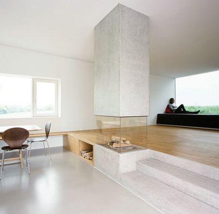 Woon - en eetkamer met trapje Internal Decoration Pinterest - ess und wohnzimmer modern