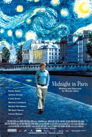 Midnight in Paris - a magical encounter with Paris' Lost Generation, directed by Woody Allen, starring Owen Wilson, Rachel McAdams, Marion Cotillard